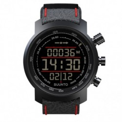 SUUNTO ELEMENTUM BLACK RED LEATHER